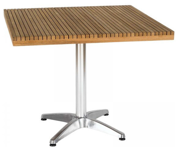 Sam Dining Table, Teak and Aluminum - Contemporary - Outdoor Dining ...
