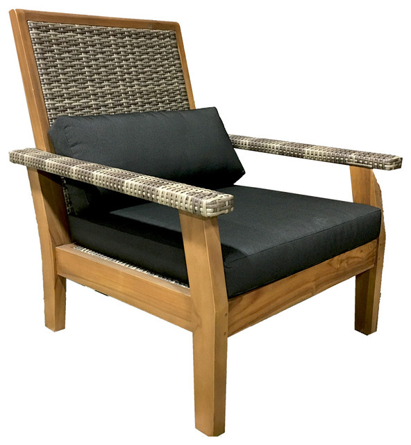 Bhome teak furniture outdoor teak lounge chair all weather for Chaise and lounge aliso viejo