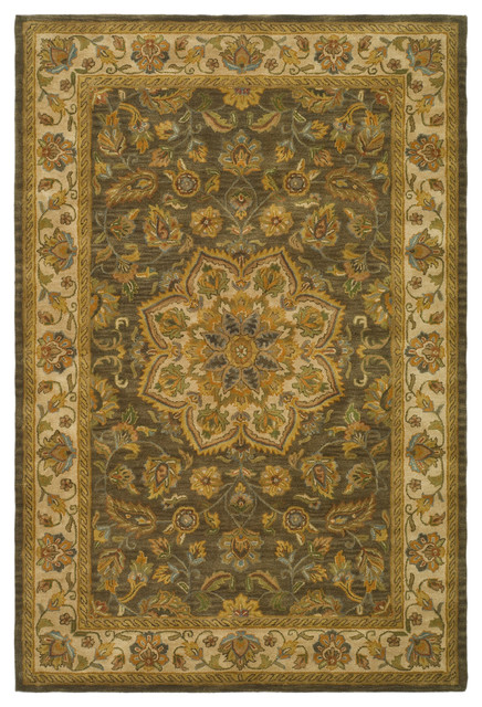 Kingstown Hand Tufted Rug, Green/taupe, 9&x27;x12&x27;.