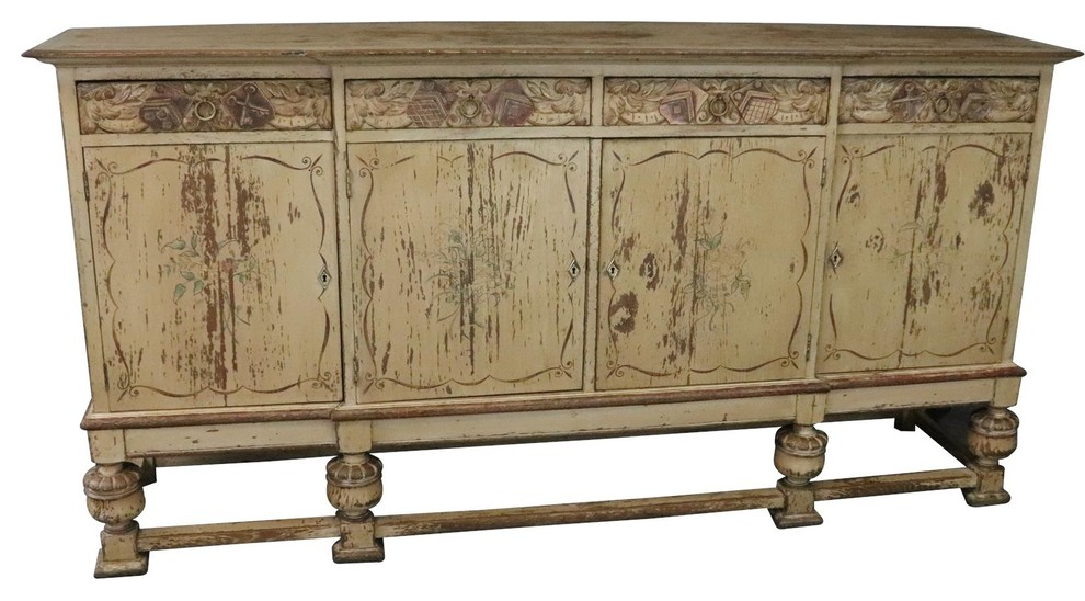 Consigned Sideboard French Country Farmhouse Antique