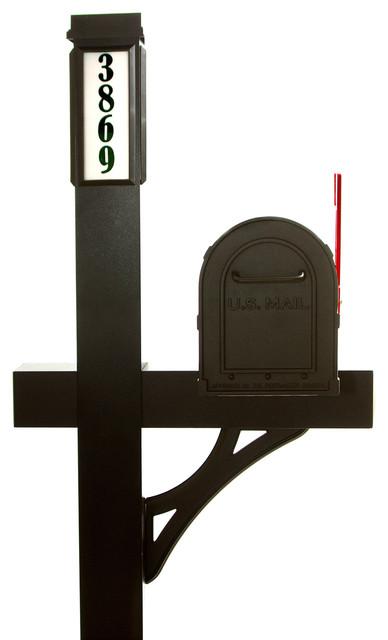 Solar Light Mailbox Package Black