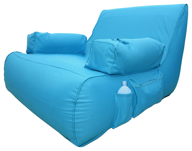 Miami Inflatable Lounge Pool Float, Blue
