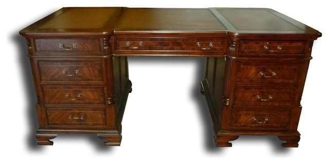Office Desk Mahogany And Satinwood Inlay Traditional Desks And Hutches