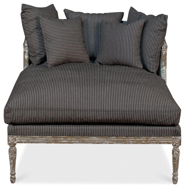 Lounge Chair, Linn Stripe, Caned Back.