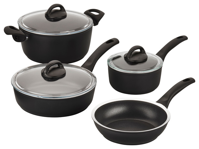 Ballarini Como Forged Aluminum 7-Piece Nonstick Cookware Set.