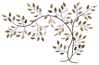 Stratton home decor tree branch wall decor contemporary for Kitchen cabinets lowes with metal tree branch wall art