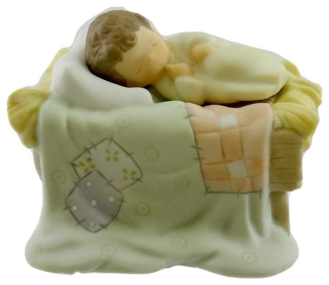 2-Piece Precious Moments Behold The Lord Porcelain Christmas Baby Jesus 737607.