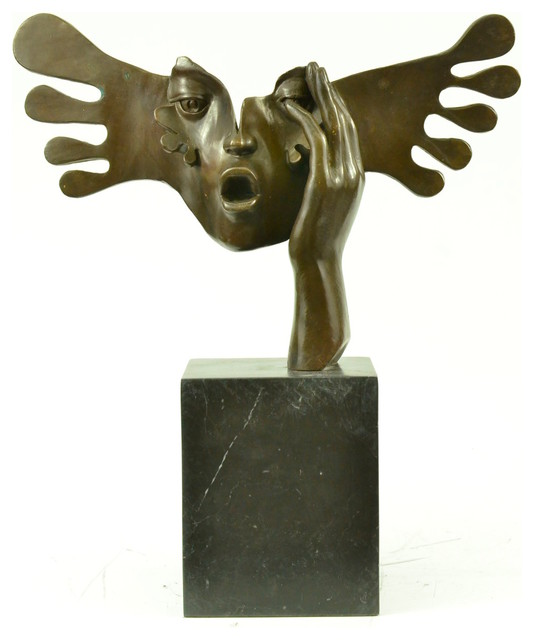 Shop houzz usa bronze le masque art moderne s dali for Modern decorative objects