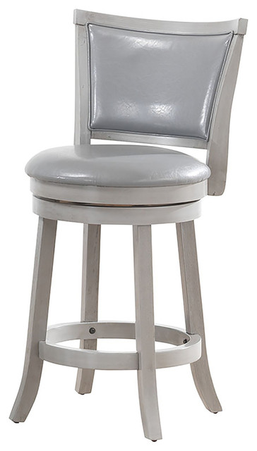 Wood/Faux Leather Swivel Counter Stool, Set of 2