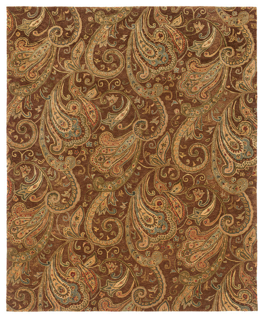Oriental Weavers Huntley 19102 Brown Gold Paisley Area Rug