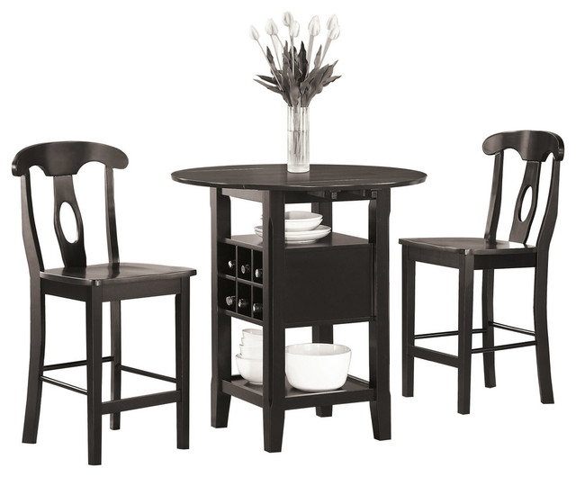 Oklahoma Counter Height Dining Room Table And Chairs 3 Piece Set Transitional Indoor Pub And Bistro Sets By Lexicon Home