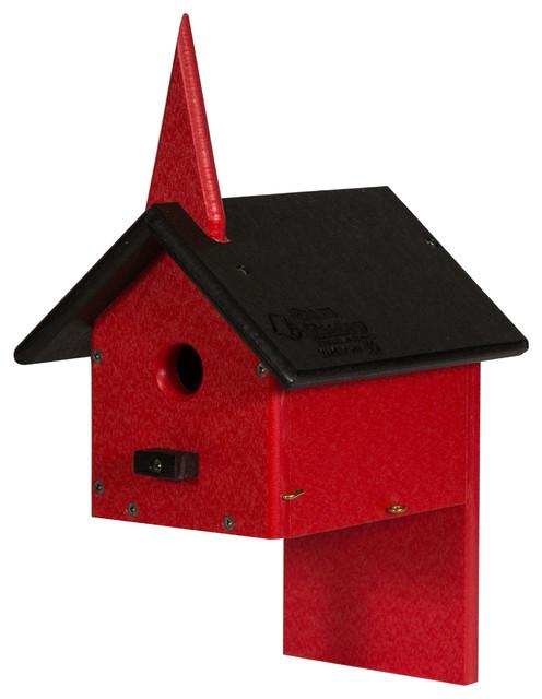 TRIPLE BIRDHOUSE Amish Handmade Recycled Poly 3 Condo Bird House WEATHERPROOF
