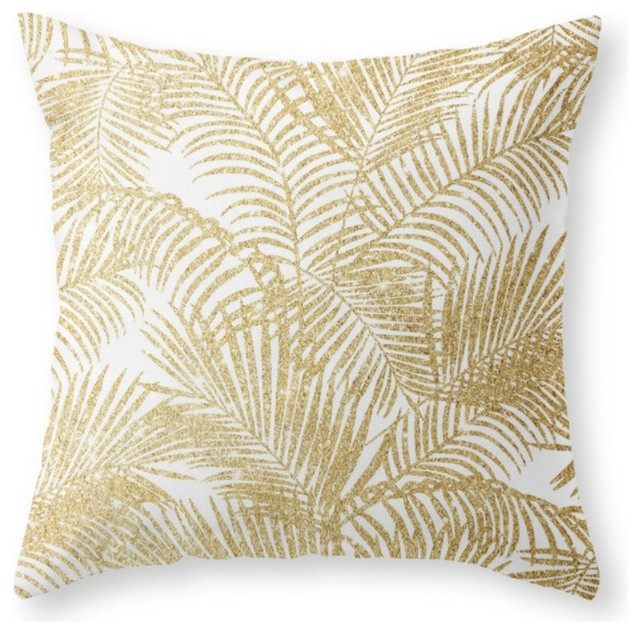 Shop Houzz Society6 Elegant Faux Gold Glitter Tropical