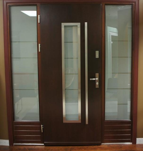 Front Elevation Modern Doors: Modern Exterior Door Model 064