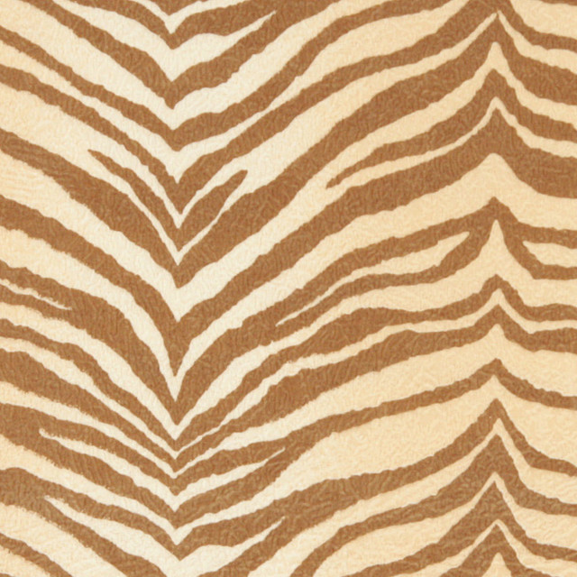 Beige Tiger Print Microfiber Stain Resistant Upholstery Fabric By The Yard