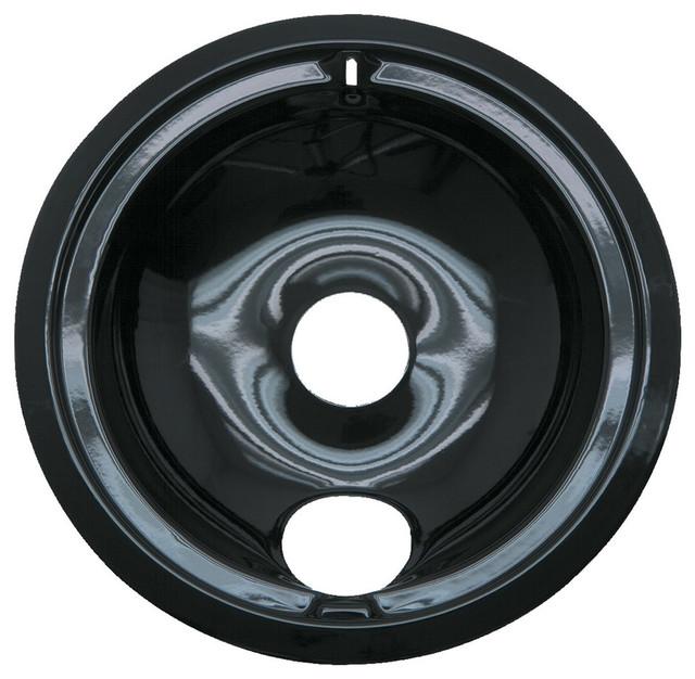 Range Kleen 8 Black Porcelain Drip Pan Style B.