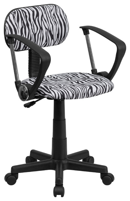zebra computer chair with arms - contemporary - office chairs -