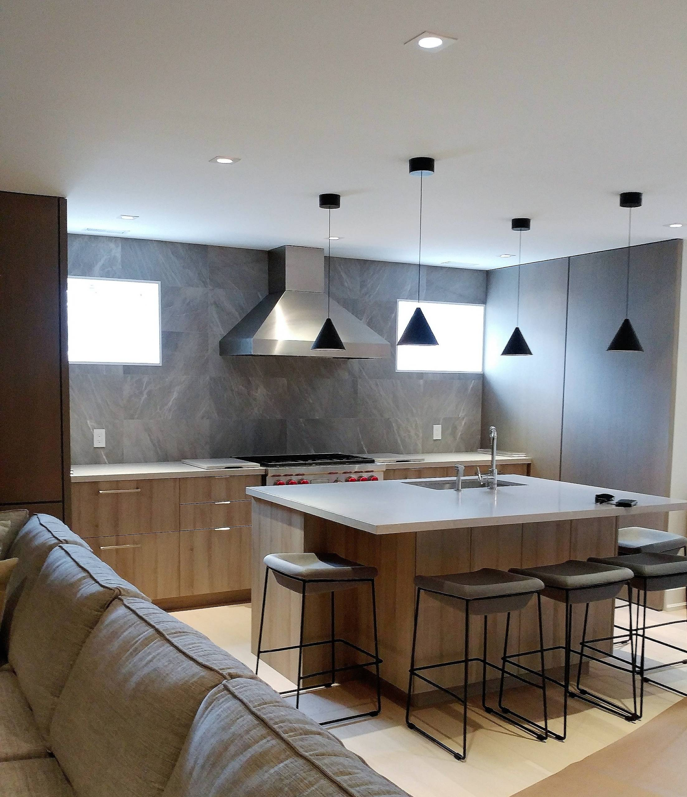 Basement Kitchen and Entertainment Room