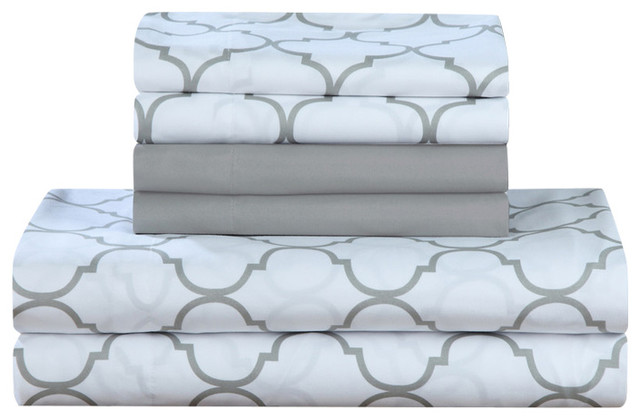 Illusion 6 Piece Sheet Set Contemporary Sheet And