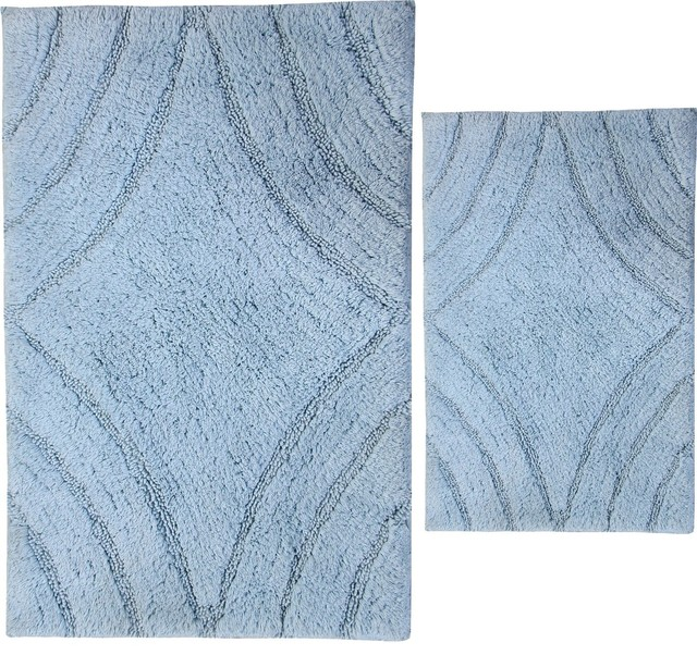 Textile Decor Usa Castle Hill London Diamond Bath Rugs Set Of 2 View In Your Room Houzz