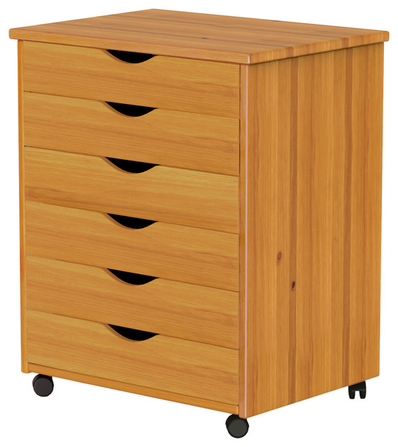 6 Drawer Wide Roll Cart.