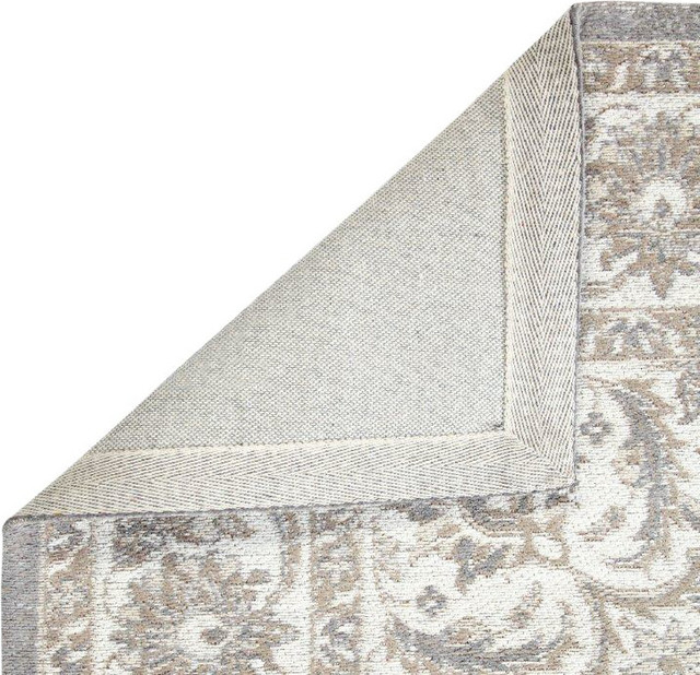 Alcott Gray Cotton Woven Persian Rug, 5&x27;x8&x27;.