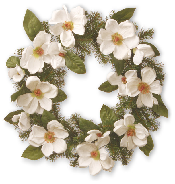 North Valley Spruce Magnolia Wreath, 24.