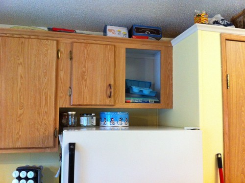 Shorten Cabinet Above Fridge? Take Out? Or Entire New Cabinets?