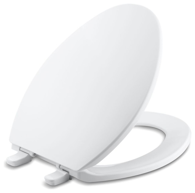 Kohler Brevia With Quick-Release Hinges Elongated Toilet Seat