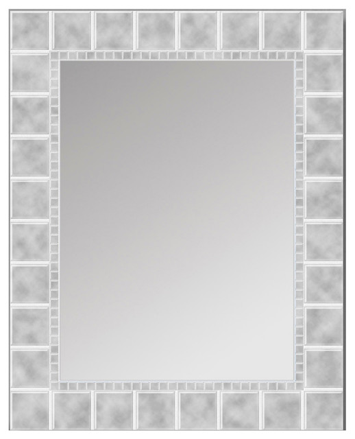 "Glass Block Mirror, 24""x30"". -2"