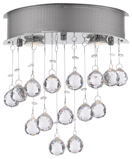 Wall Sconce Chandelier Rain Drop Crystal Ball Fixture Lamp