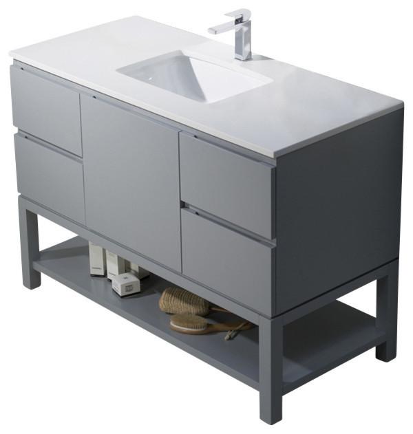 Emmet 49 Vanity  Espresso  White Sink  White Quartz Countertop bathroom vanities. Emmet 49 Vanity   Bathroom Vanities And Sink Consoles   by