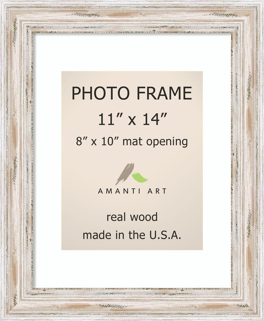 Alexandria Whitewash Photo Frame 14x17 Farmhouse Picture