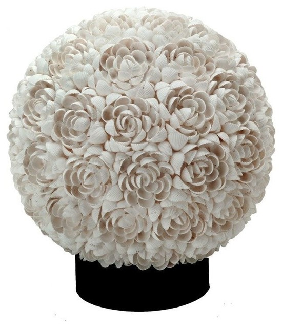 Floral clamrose shell table lamp off white beach style table floral clamrose shell table lamp off white aloadofball Images