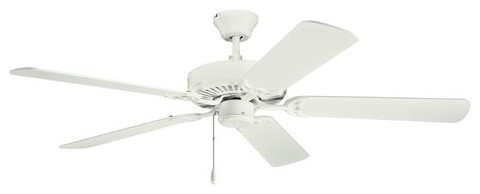 Basics Revisited Indoor Ceiling Fans, Satin Natural White.