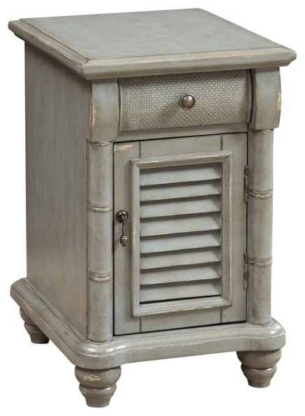 1 Door 1 Drawer Chairside Table With Power Farmhouse