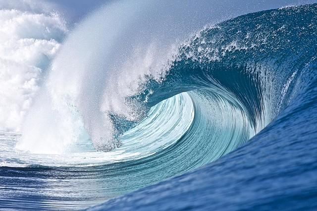 Perfect Tahiti Wave Break Wallpaper Wall Mural Self