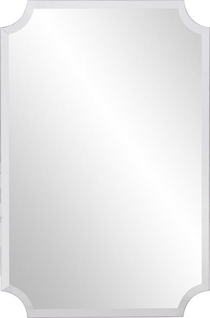 Howard Elliott Rectangle Scalloped Frameless Mirror by Howard Elliott Collection