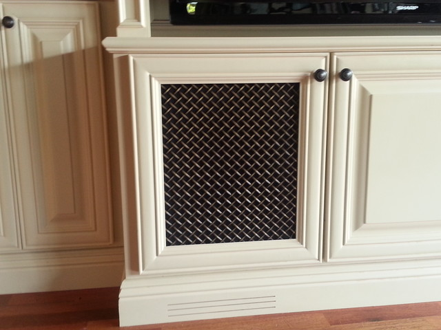 Antique Br Wire Grille With Black Mesh Traditional