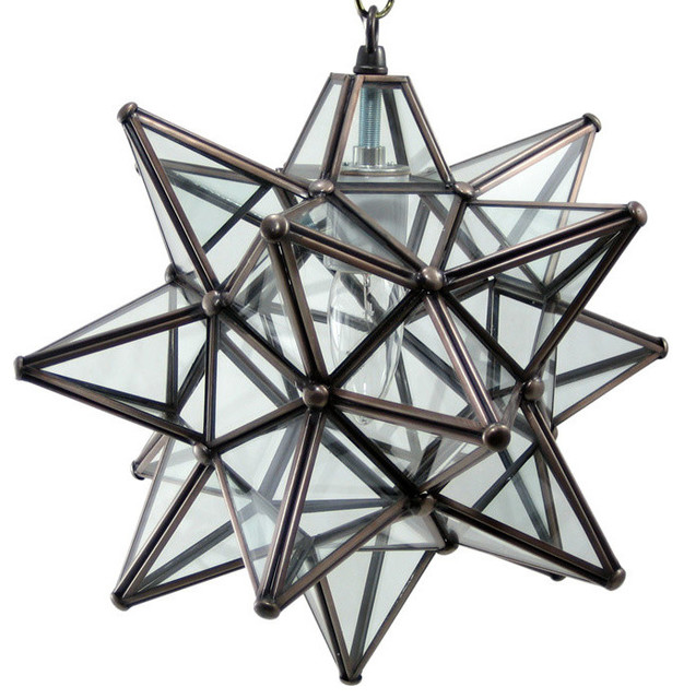 Moravian star pendant light clear glass bronze frame 12 moravian star pendant light clear glass bronze frame 12 aloadofball Image collections