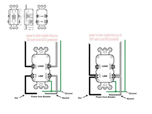 newb question on simple outlet wiring don t confuse a gfci receptacle wiring method a standard receptacle in this picture the left example is series and the right example is parallel