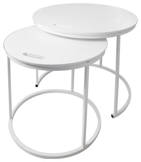 George Nesting Tables, Set of 2, White