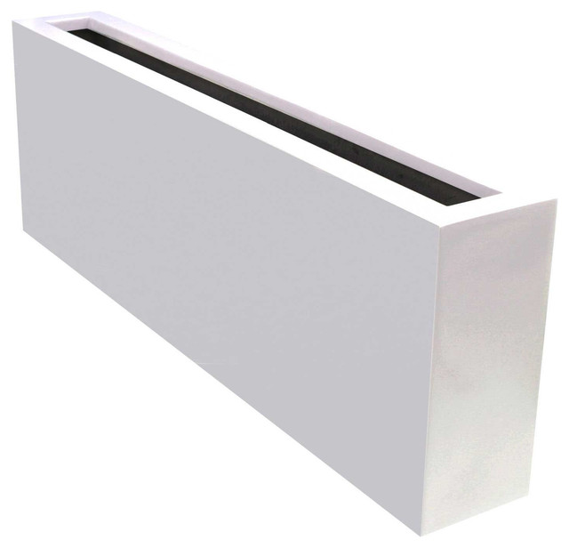 Camoux Contemporary Planter Box, Bright White Finish, 54""