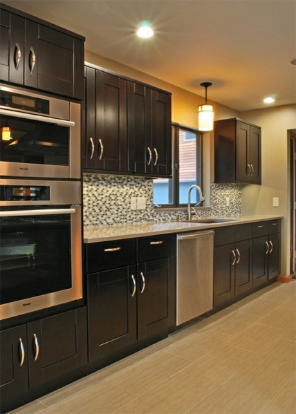 Mocha Shaker Kitchen Cabinets Philadelphia By Rta