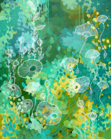 """green Tea"", Canvas Wall Art By Stephanie Corfee."