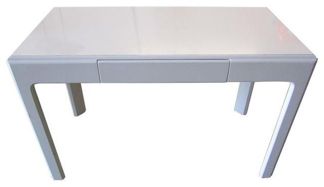 Vintage White Lacquer Desk   $1,800 Est. Retail   $720 On Chairish.com