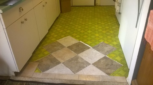 Checkerboard Tile Floor
