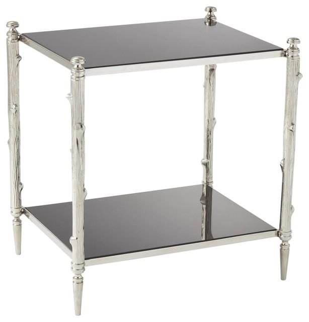 Outstanding Global Views 8 82040 Arbor Side Table With Black Granite Top Frankydiablos Diy Chair Ideas Frankydiabloscom