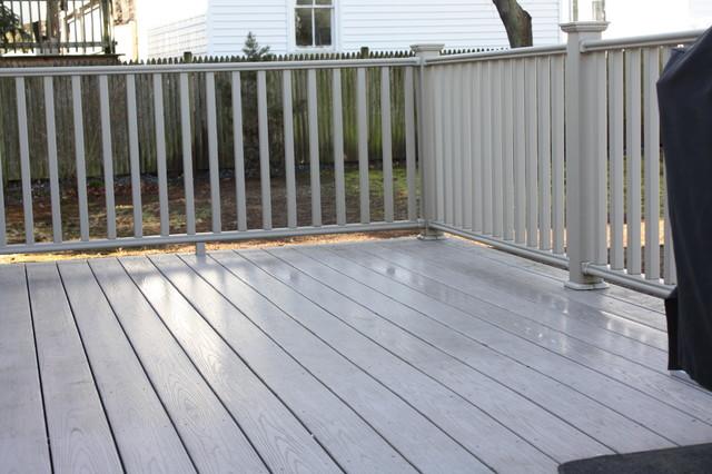 Azek deck in grey for Grey decking garden ideas