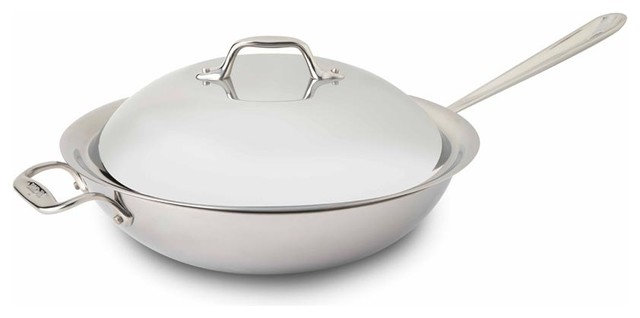 All Clad Ss Chef&x27;s Pan W/ Domed Lid.